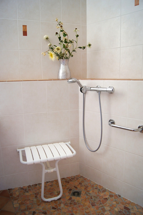 Disabled Shower With Shower Chair