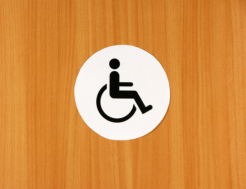 automated disabled toilet doors