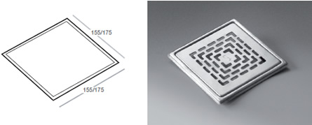 Phleximax Classic - Grating for tiled floor