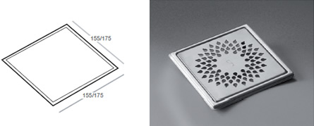 Phleximax Drop - Grating for tiled floor
