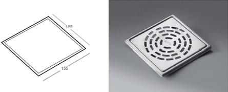 Phleximax Globe - Grating for tiled floor