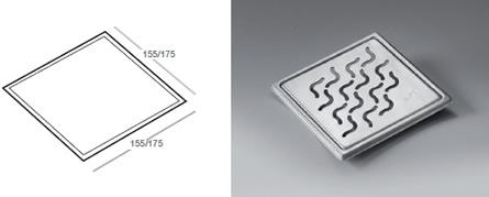 Phleximax Wave - Grating for tiled floor