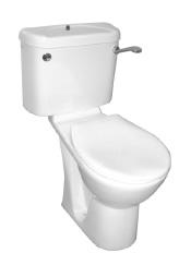 Close coupled disabled toilet suite