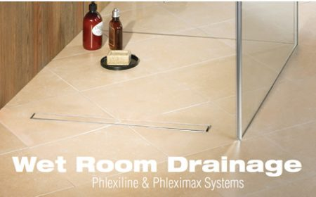 Wet Room Drainage - Phlexiline And Phleximax Systems