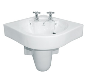 Wash basins semi pedestal