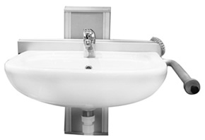Adjustable height hand basins